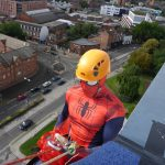 Spiderman charity Abseil - Dolomite Training Charity Abseil